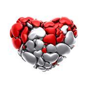 Heart Icon, 3D Illustration of High Resolution Rendering - stock illustration