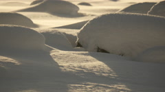 Close up waves of snow bumps Stock Footage