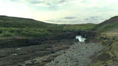 Black Rock River in ICELAND Stock Footage