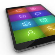 Custom tablet icon gallery concept - stock illustration