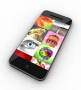 Custom smartphone picture gallery concept - stock illustration