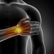 Injured wrist - stock illustration