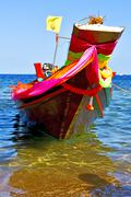 boat prow asia in the  kho      thailand  and  sea - stock photo