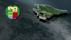 Basque Country with Coat of arms animation map Stock Footage