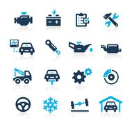 Car Service Icons -- Azure Series - stock illustration
