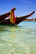 Asia in the  kho tao bay isle white  beach    south china sea Stock Photos