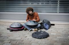 Street Entertainer - stock photo