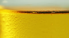 Beer abstract golden yellow bubble background. - stock footage