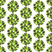 Stock Illustration of Geometric seamless pattern with gems. Vector illustration