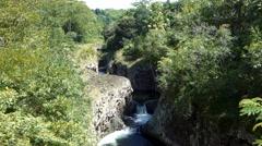 Gorge, Ile De La Reunion Stock Footage