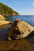 stone    thailand kho tao bay abstract of - stock photo