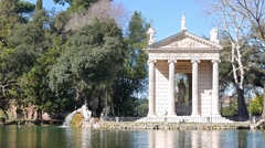 Temple of Asclepius. Villa Borghese, Rome, Italy. 1280x720 Stock Footage