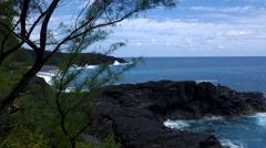 Shoreline, Ile De La Reunion Stock Footage
