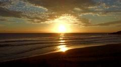 Sunset, Shoreline, Ile De La Reunion Stock Footage