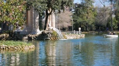The fountain at the Temple of Asclepius, Rome, Italy. 1280x720 Stock Footage
