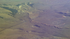 Flying over a desert Stock Footage