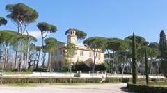 Piazza di Siena, Villa Borghese gardens, Rome, Italy. 1280x720 Stock Footage