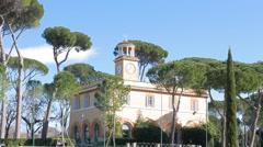 Piazza di Siena, Villa Borghese gardens, Rome, Italy. 4K Stock Footage