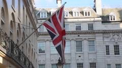 Union Jack Flag - stock footage