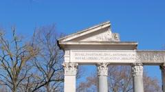 Tempio di Antonino e Faustina, Villa Borghese gardens, Rome, Italy Stock Footage