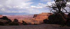 Schafer Canyon Majestic Buttes Storm Approaching Canyonlands Stock Photos