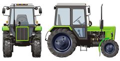 Vector Agricultural Tractor Stock Illustration