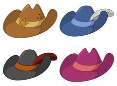 Stock Illustration of Ancient hats