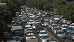 Stock Video Footage of Congested traffic in Rangoon, Burma, Yangon, Myanmar, zoom in