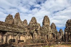 Bayon Temple at Angkor Wat, Siem Reap Cambodia - stock photo