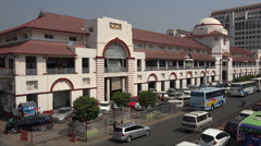 Stock Video Footage of Scott Market building in Rangoon, Burma, Yangon, Myanmar