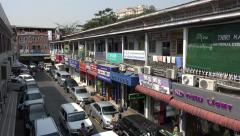 Shops at Scott Market building in Rangoon, Burma, Yangon, Myanmar Stock Footage