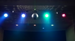 Disco Ball & Led Disco Light in Night Club Dj Party - stock footage