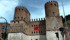 Porta San Sebastiano Stock Footage