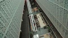 Shopping Mall, Shopping Center Aerial Hyperlapse - Motion Timelapse Stock Footage