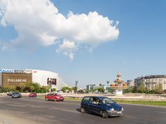 Rush Hour In Union Square Of Bucharest - stock photo
