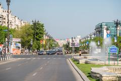 Stock Photo of Rush Hour In Union Square Of Bucharest