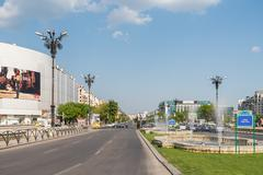 Rush Hour In Union Square Of Bucharest Stock Photos