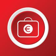 Stock Illustration of Euro case icon on red