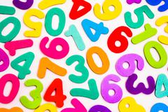 Stock Illustration of Mixed Numbers of Different Colours.