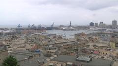 ITALY - Genova city and harbor Stock Footage