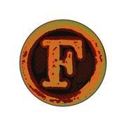 grunge font -  letter F - stock illustration