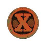 Stock Illustration of grunge font - letter X