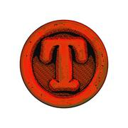 Stock Illustration of grunge font - letter T