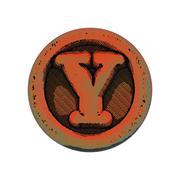 Grunge font - letter Y Stock Illustration