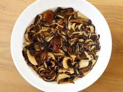 Soaked Dried Mushrooms - stock photo