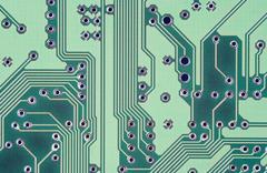 Motherboard - Printed Circuit - stock photo