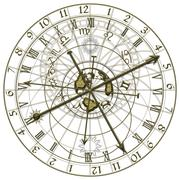 Stock Illustration of Metal Astronomical Clock