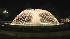 Stock Video Footage of Fountain night