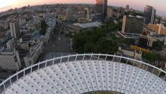 Flight over the Olympic Arena in Kiev Stock Footage
