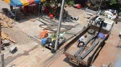 Construction site at Pakse in Champasak, Laos Stock Footage